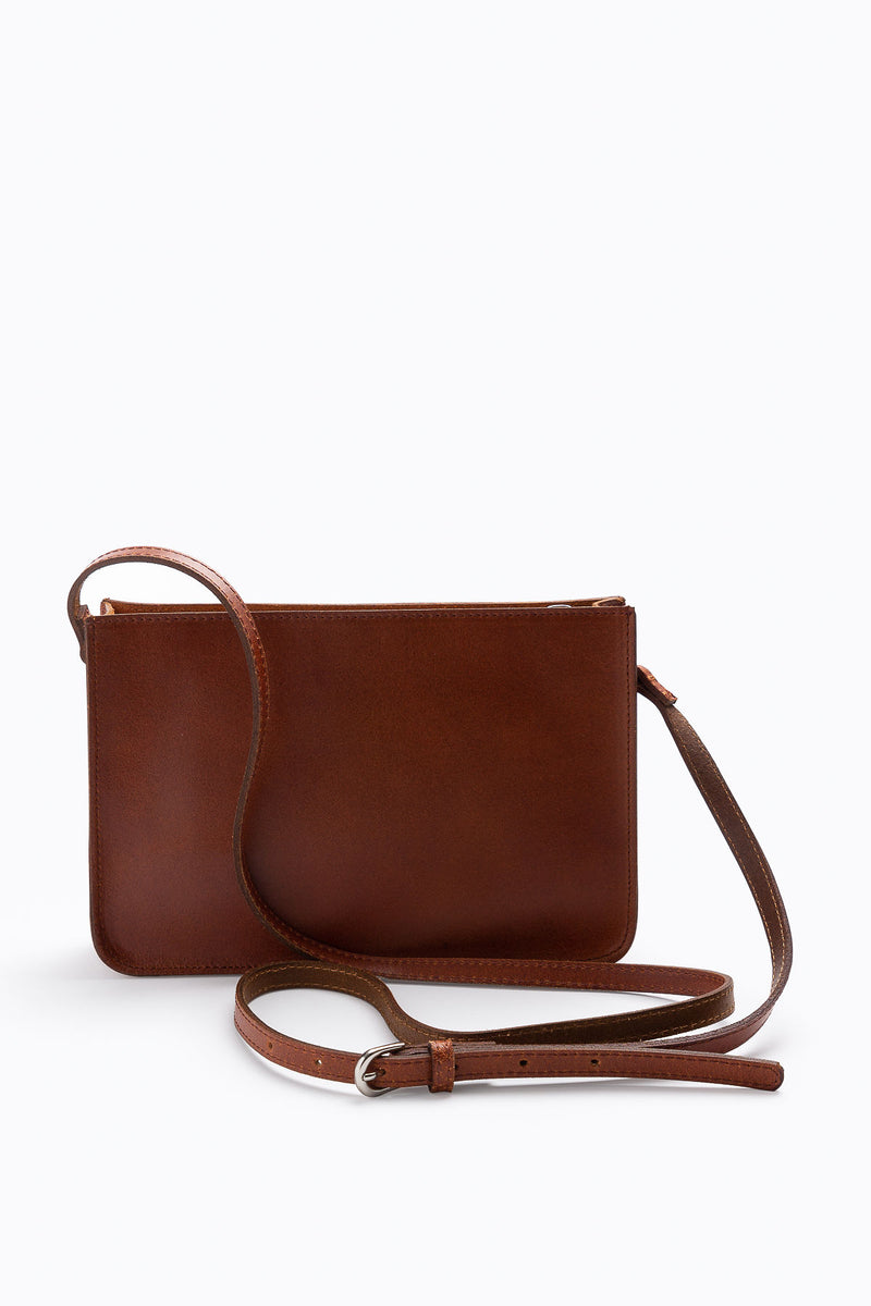 The Rectangle Crossbody Bag in Tan