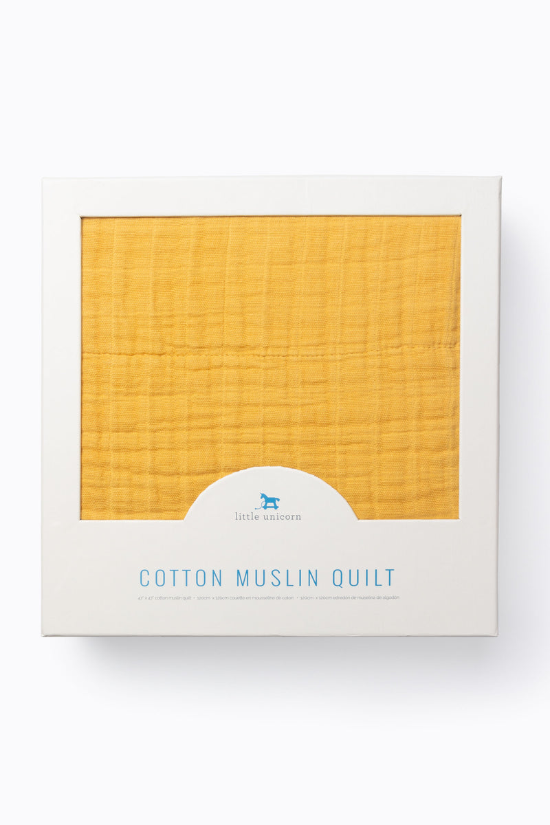 HOME: Little Unicorn Cotton Muslin Quilt in Mustard