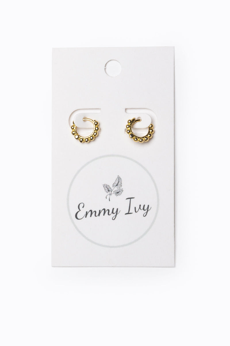 Emmy Ivy: Dotted Delicate Hoops