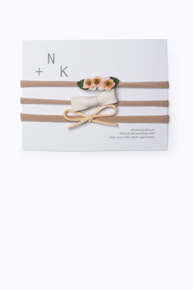 Notes + Knots: Baby Girl Cream Set