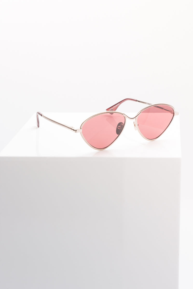Le Specs: Bazaar Sunglasses in Rose Gold