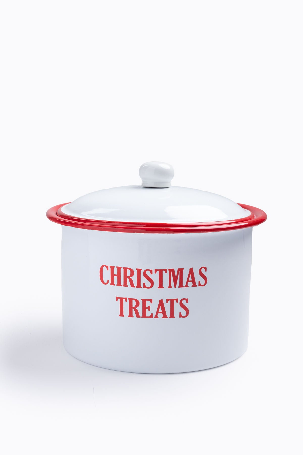 XMAS: Enamel Treat Canister