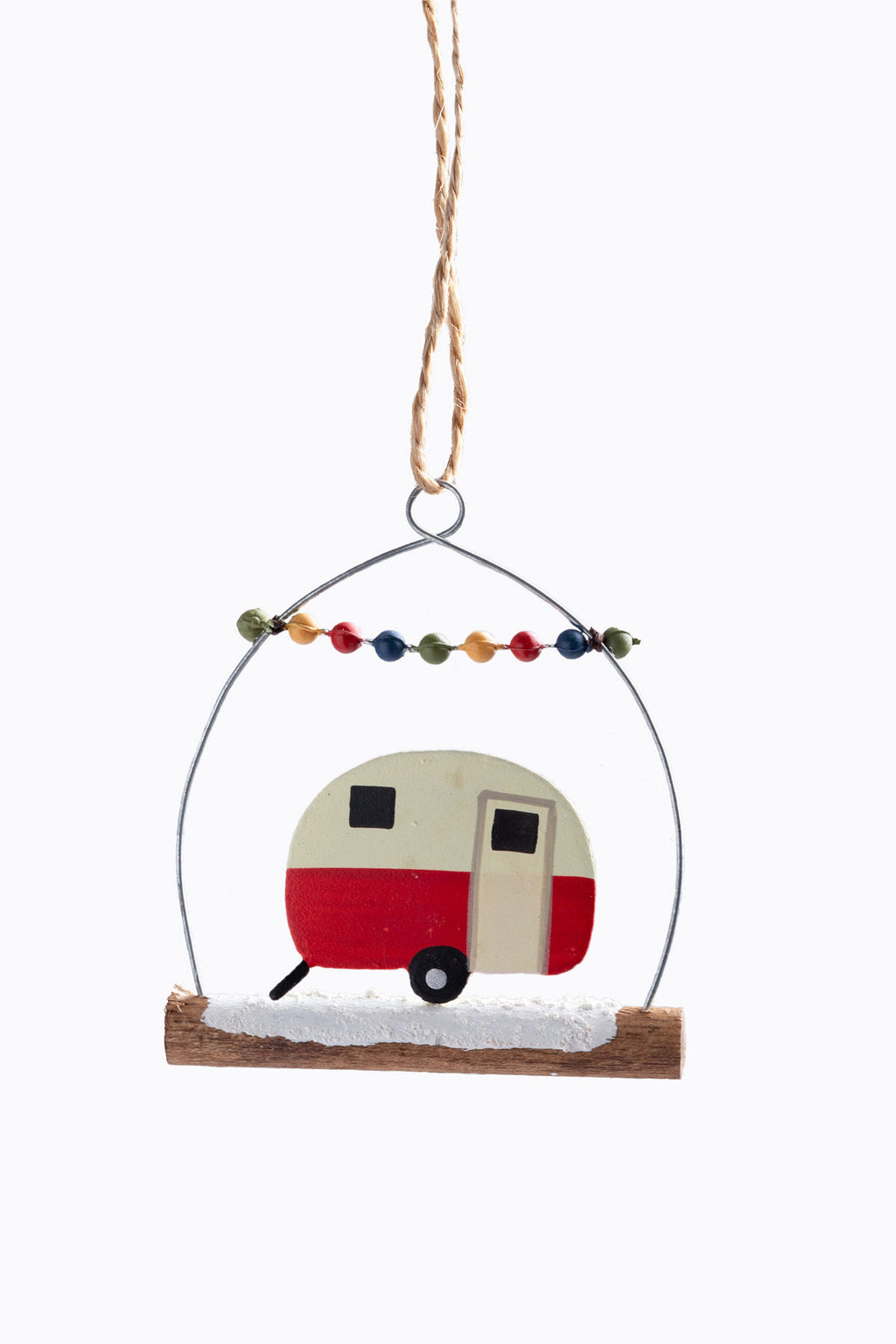 HOLIDAY: Tin + Wood Camper Ornament