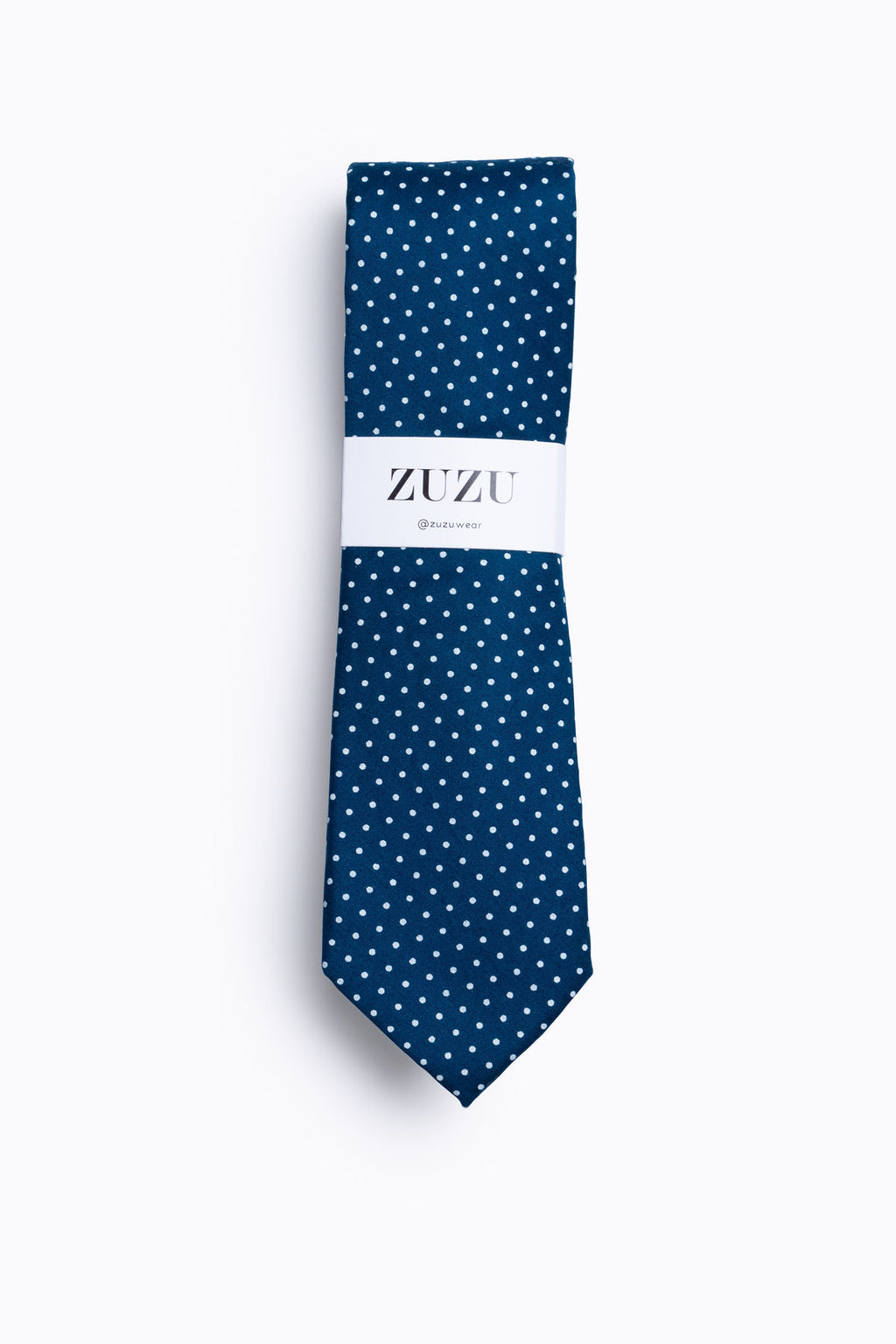 Navy Polka Dots Men's Neck Tie
