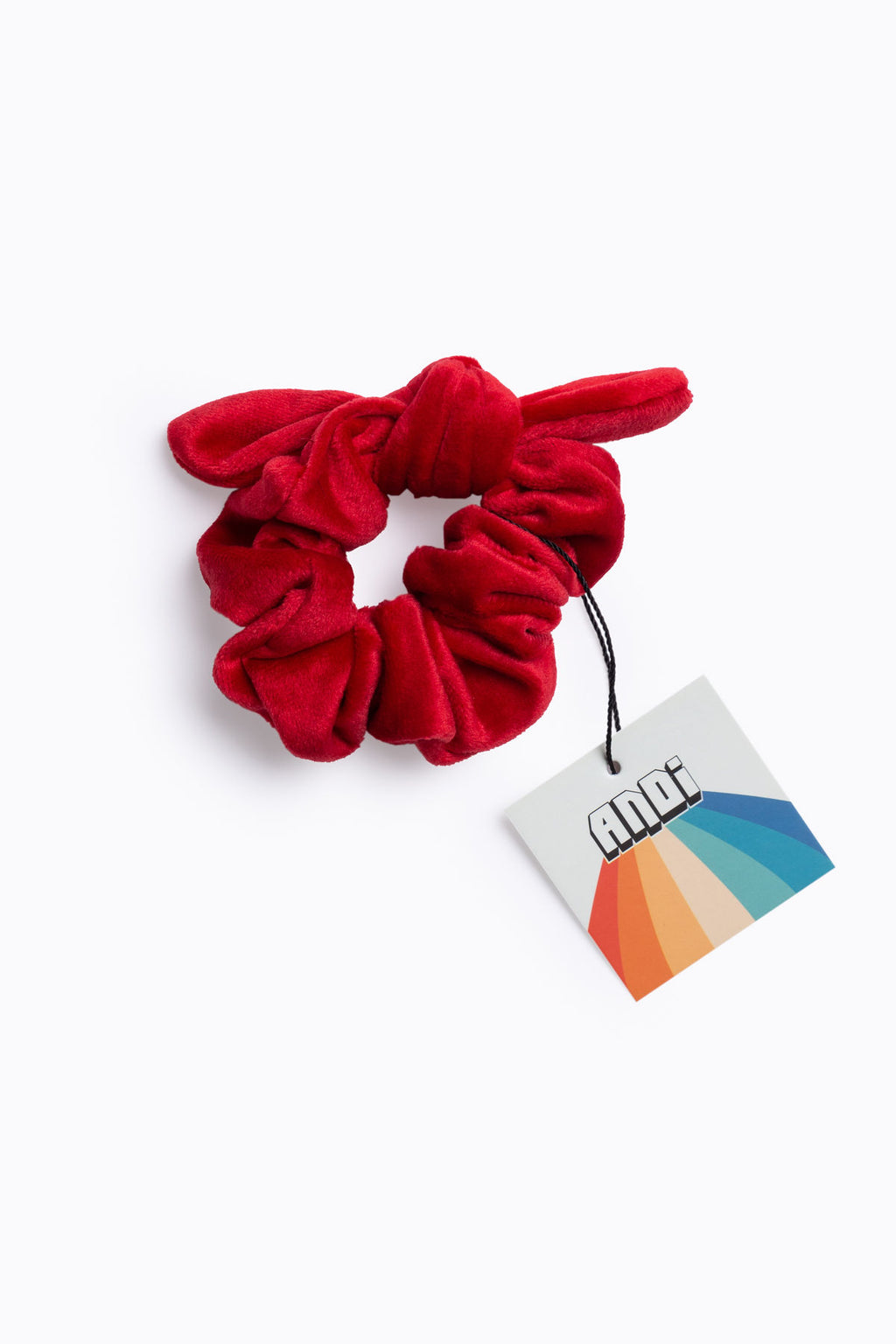 Red Velvet Knot Scrunchie