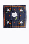 Piper & Scoot: Silk Neck Scarf in Navy Blossom