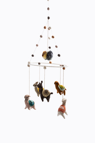 HOME: Wool Felt Bird Baby Mobile
