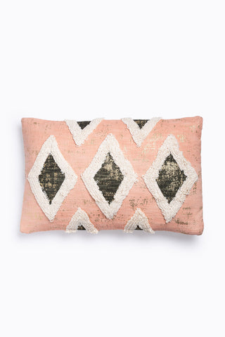 HOME: Santos Lumbar Pillow in Black Multi