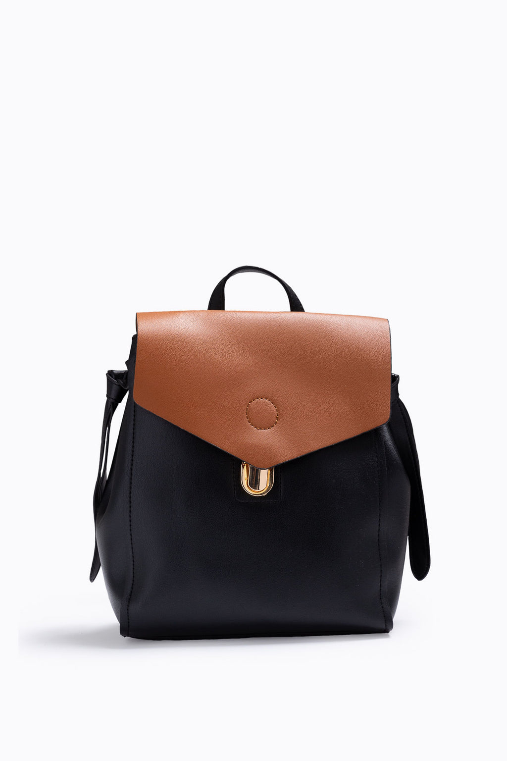 The Remy Contrast Backpack in Black