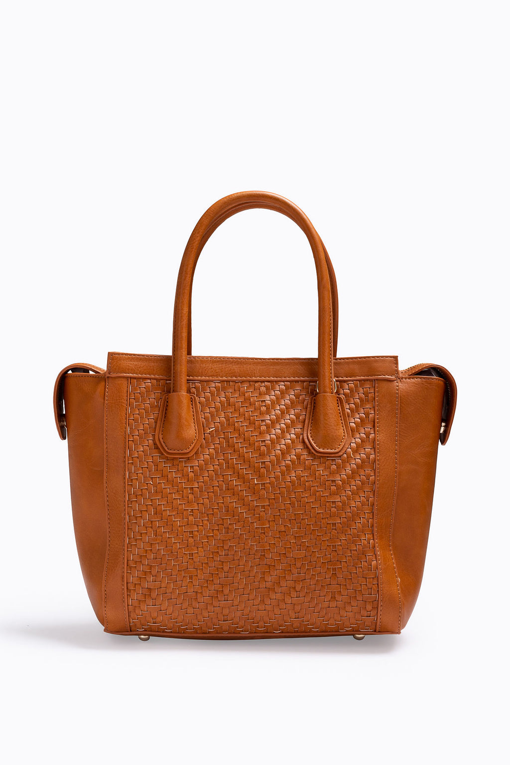 The Jagger Woven Detail Bag in Tan