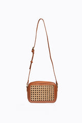The Whirl Perforated Crossbody in Natural