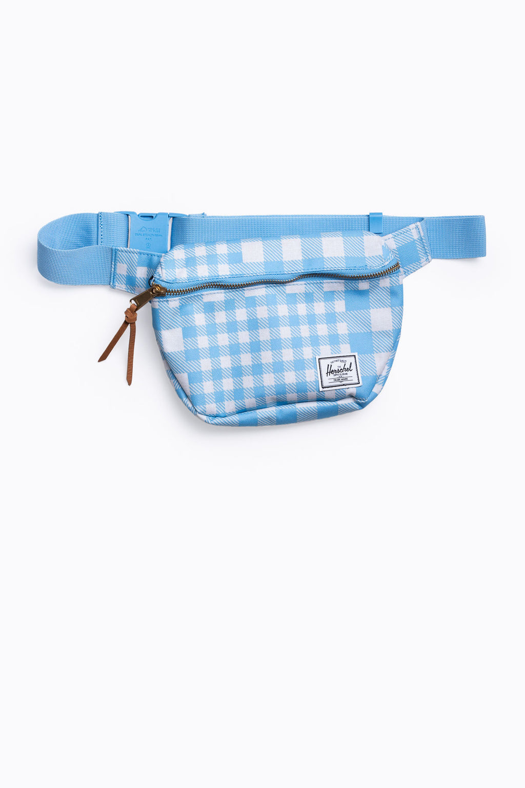 Herschel: Fifteen Hip Pack in Gingham Alaskan Blue