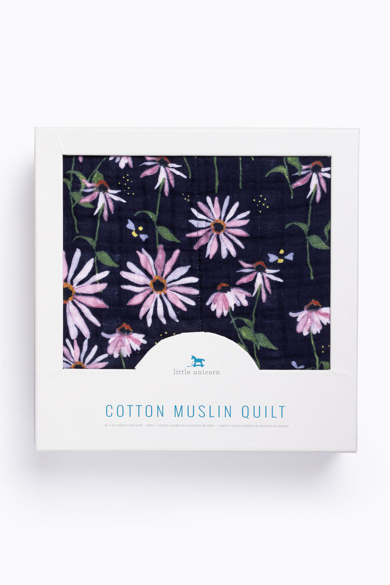 HOME: Little Unicorn Cotton Muslin Quilt in Dark Coneflower
