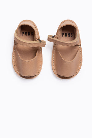 PONS: Little Fraileras Sandals in Tan
