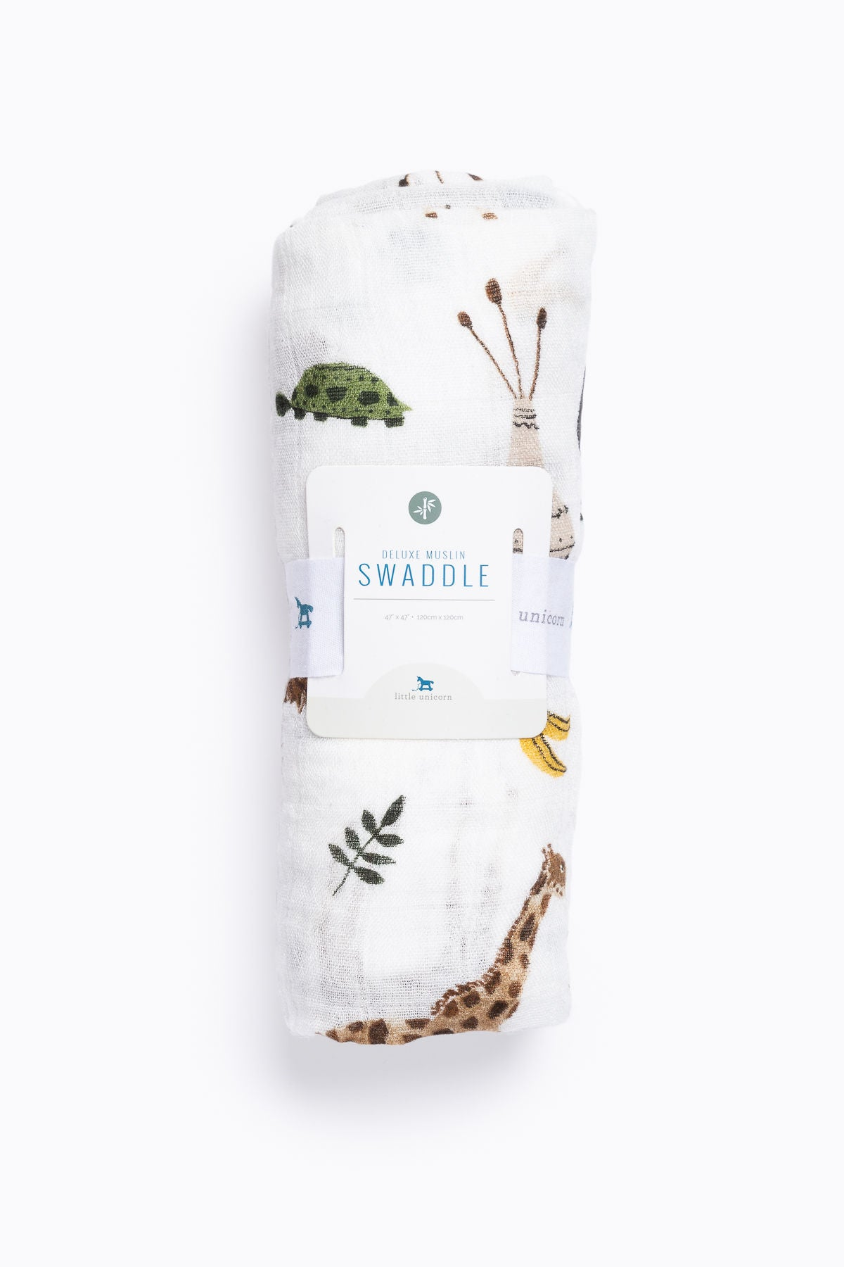 HOME: Little Unicorn Deluxe Muslin Swaddle in Safari Social