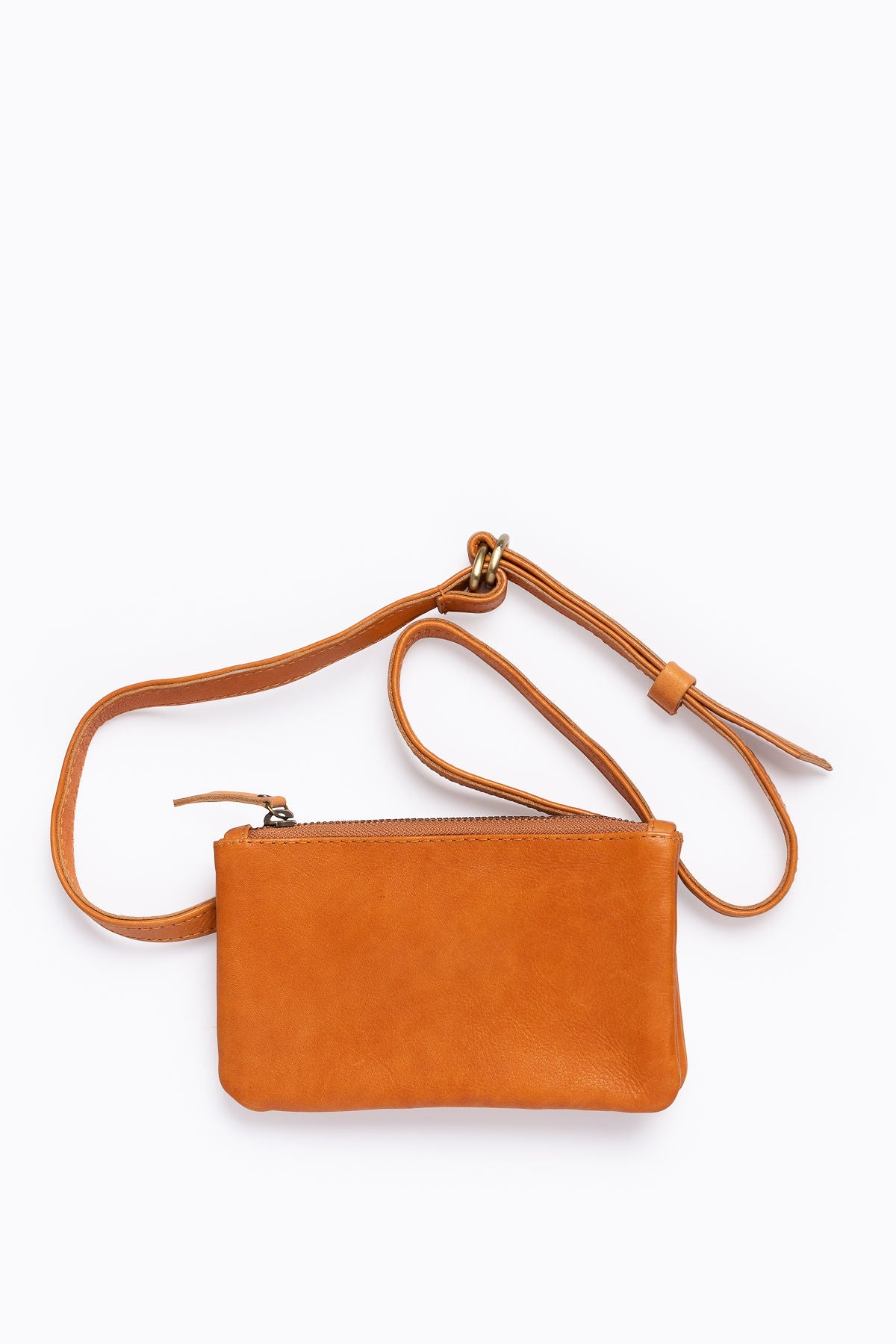 The Ellarie Leather Belt Bag in Cognac