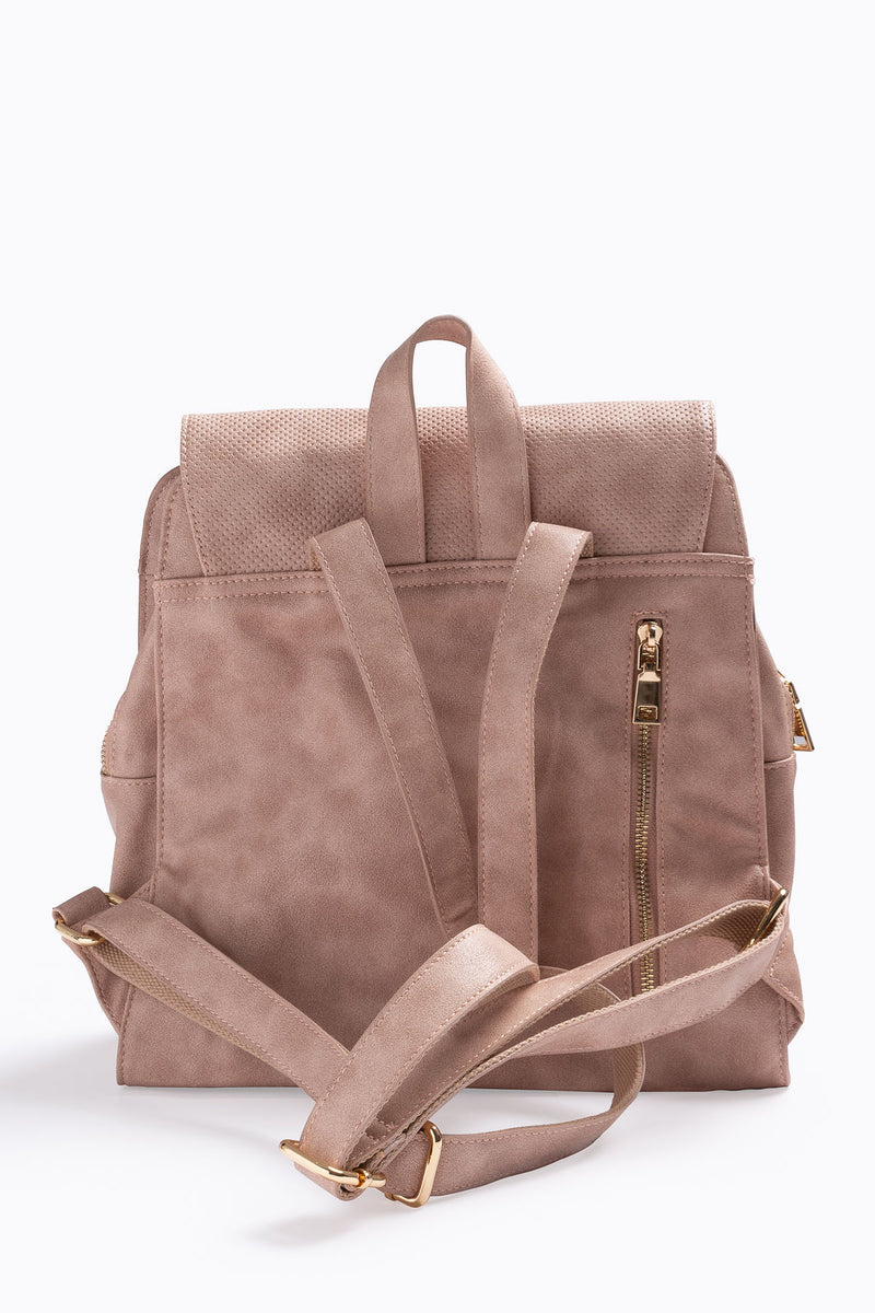 The Mick Perforated Daypack in Blush