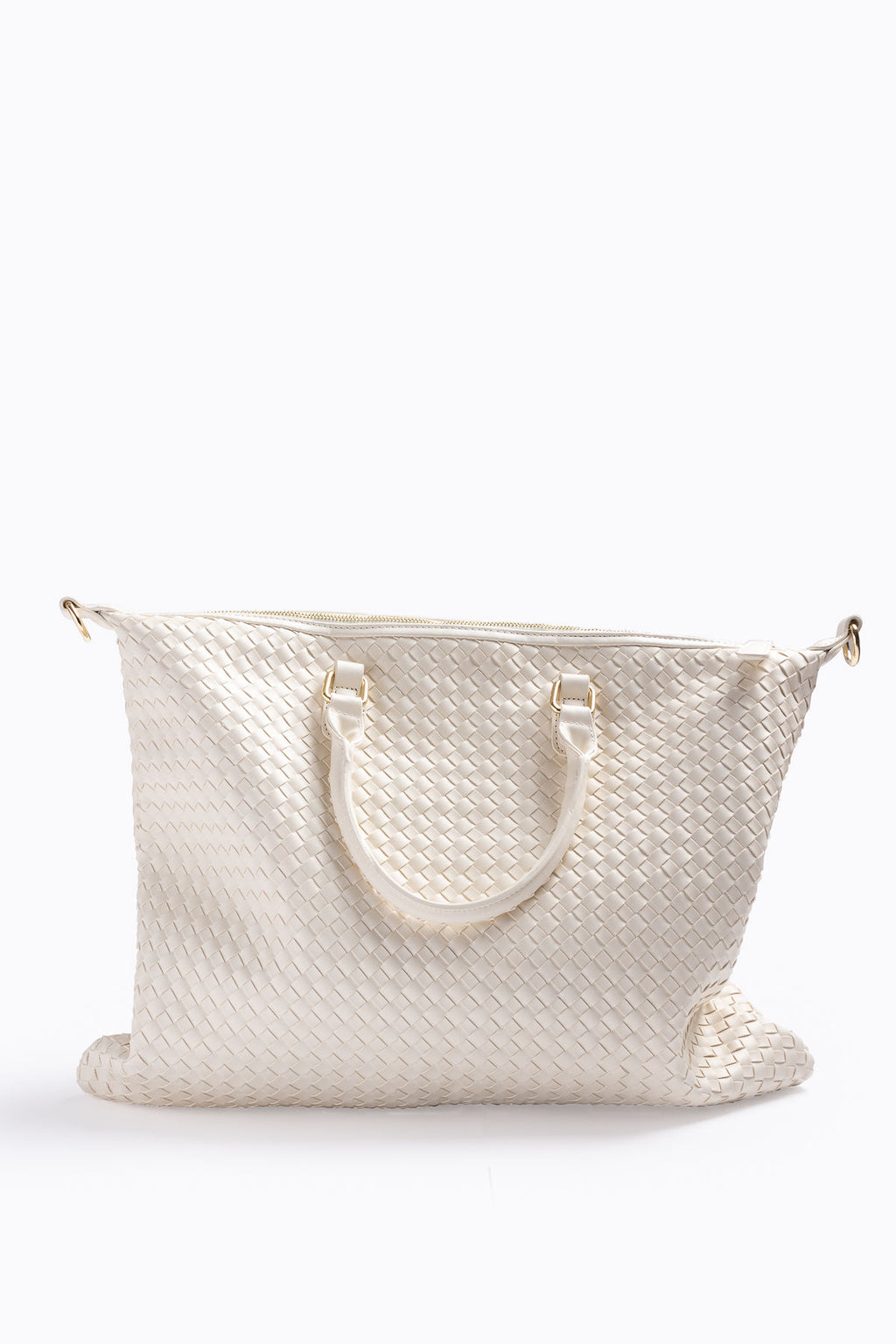 The Ingrid Woven Tote in Ivory