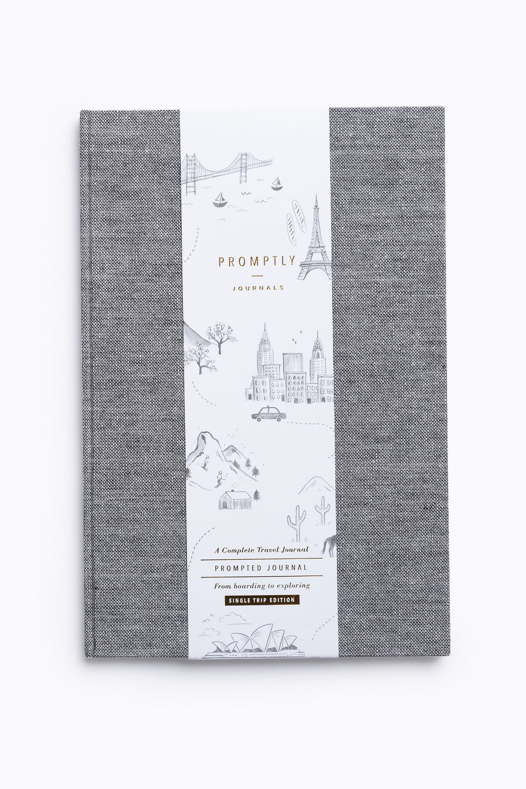 Promptly Journals: Travel in Grey Tweed