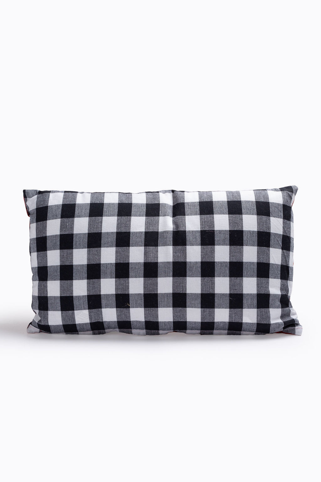 HOME: Cotton Pillow in Bee/Gingham