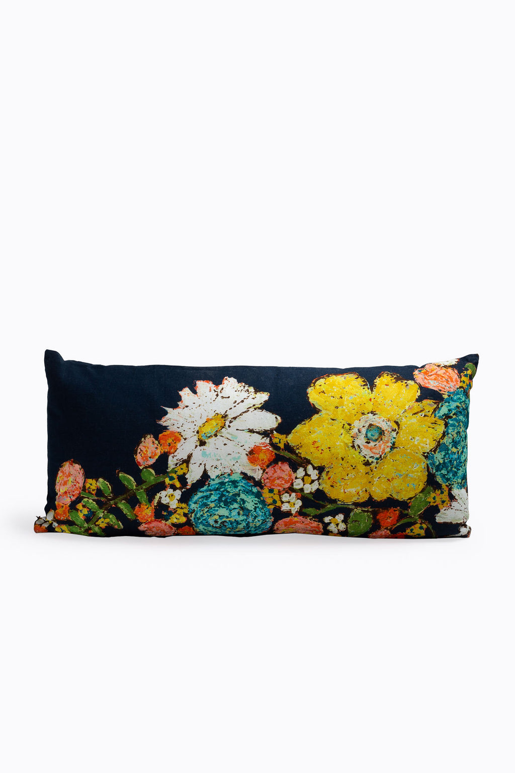HOME: Cotton Pillow with Flowers, 2 Styles
