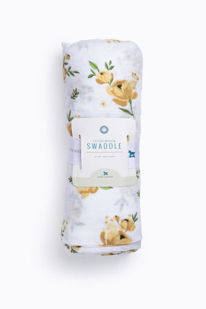 HOME: Little Unicorn Cotton Muslin Swaddle Single in Yellow Rose