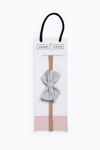 Perfect Match Hair Bow Headband in Rose