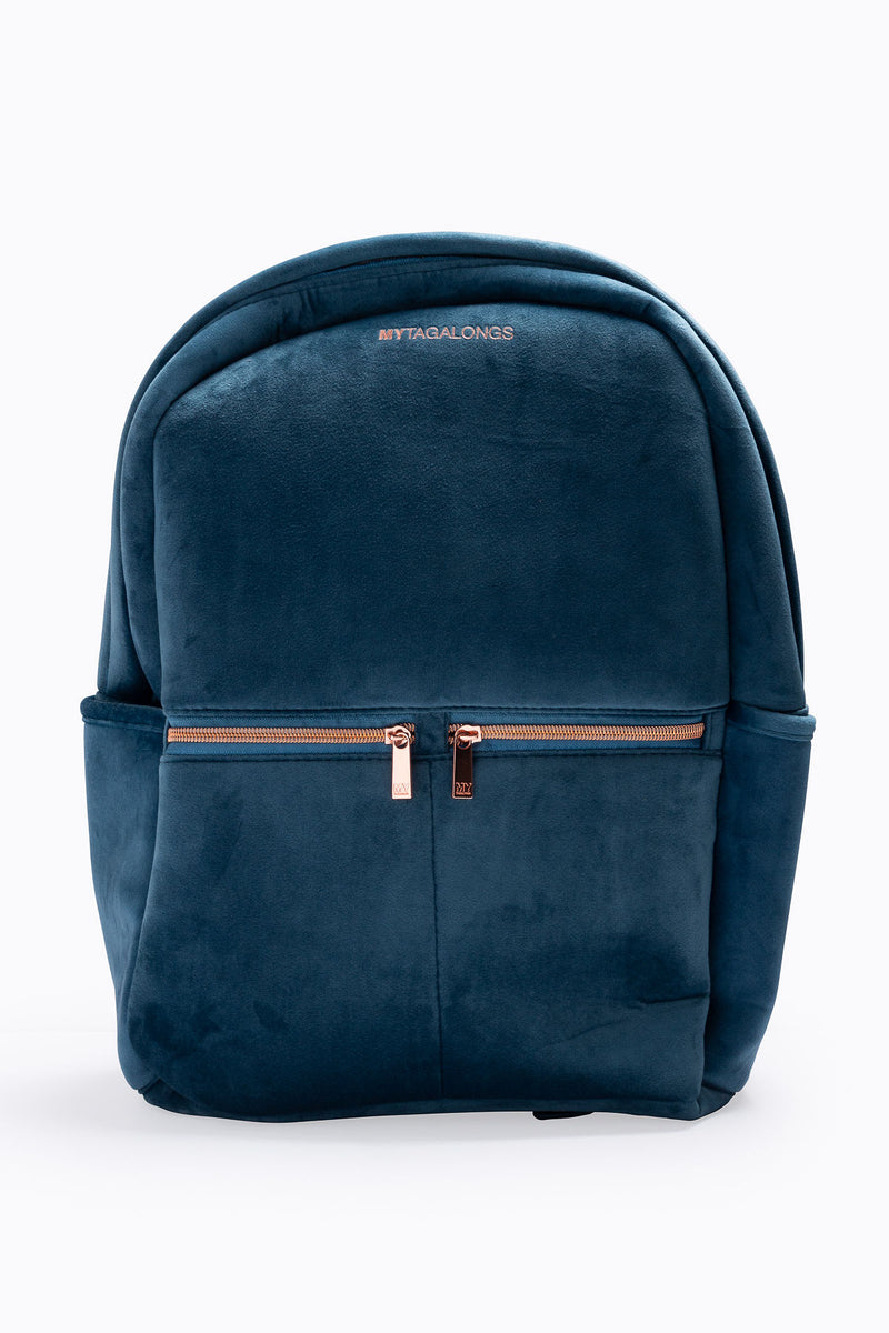 Mytagalongs: Vixen Backpack in Indigo Velour