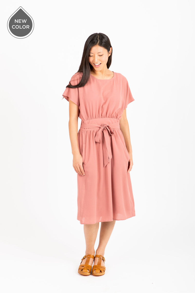 The Raymond Tie Dress in Rose