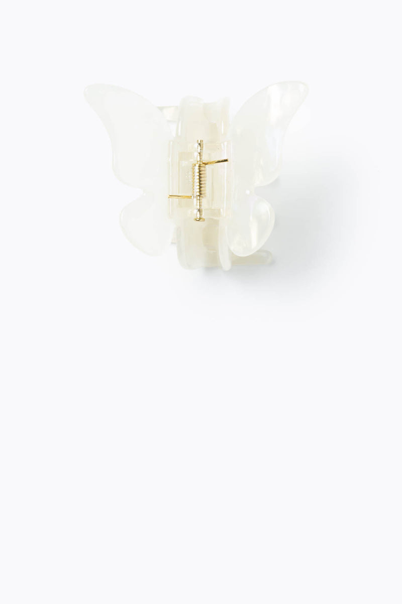 The Butterfly Jaw Hair Clip in White