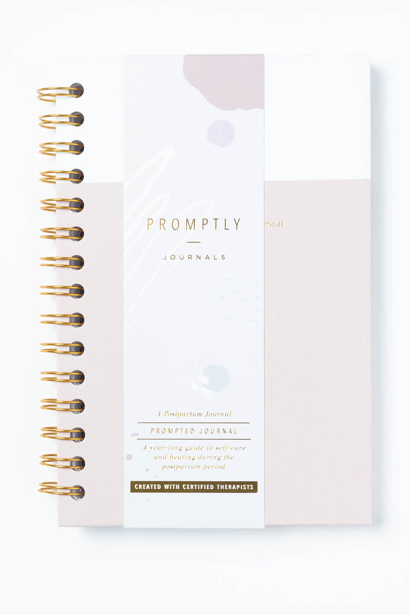 Promptly Journals: Postpartum Journal in Powdered Lilac
