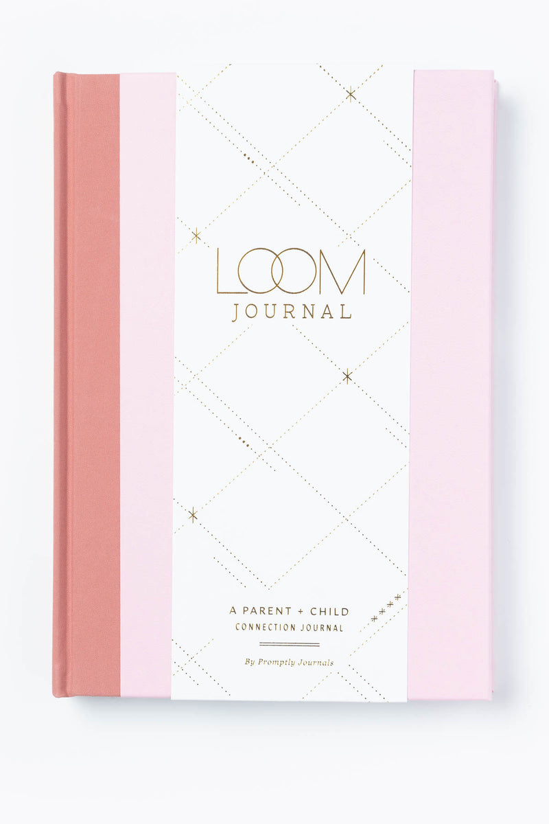Promptly Journals: Loom Parent-Child Journal in Blush Pink