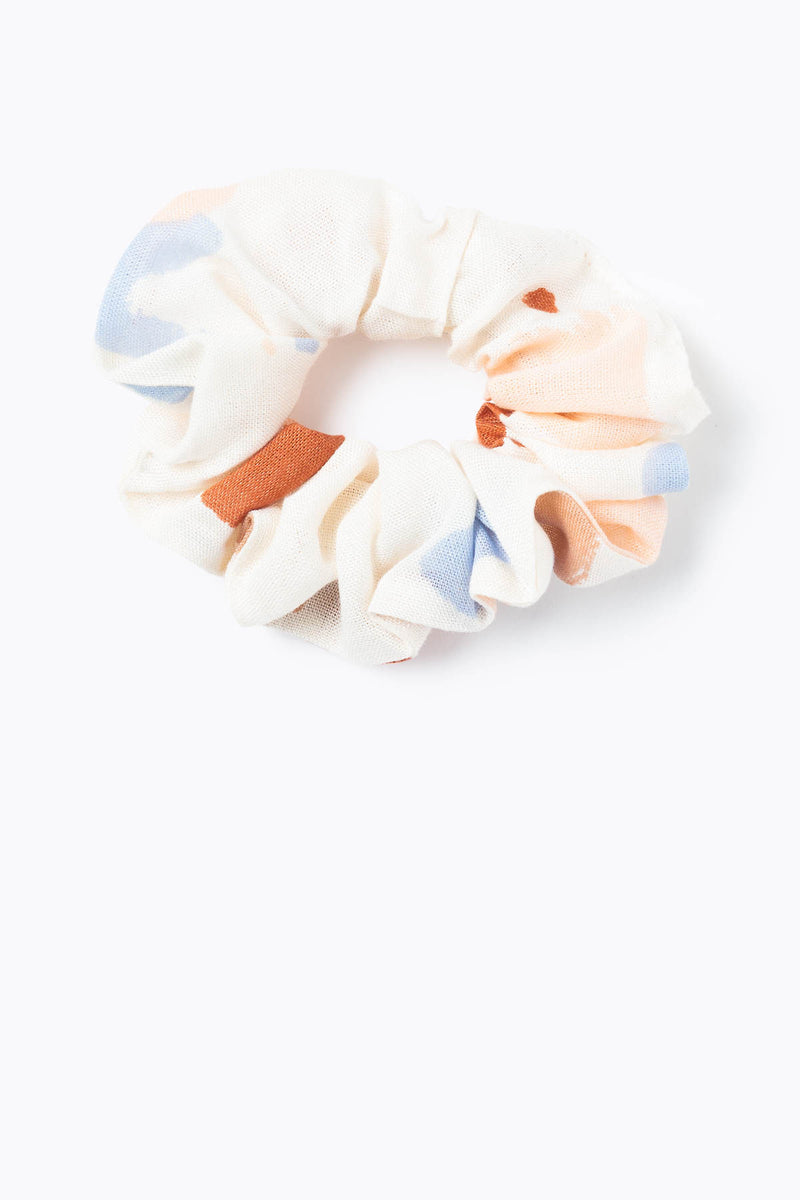 Watercolor Scrunchie in Ivory