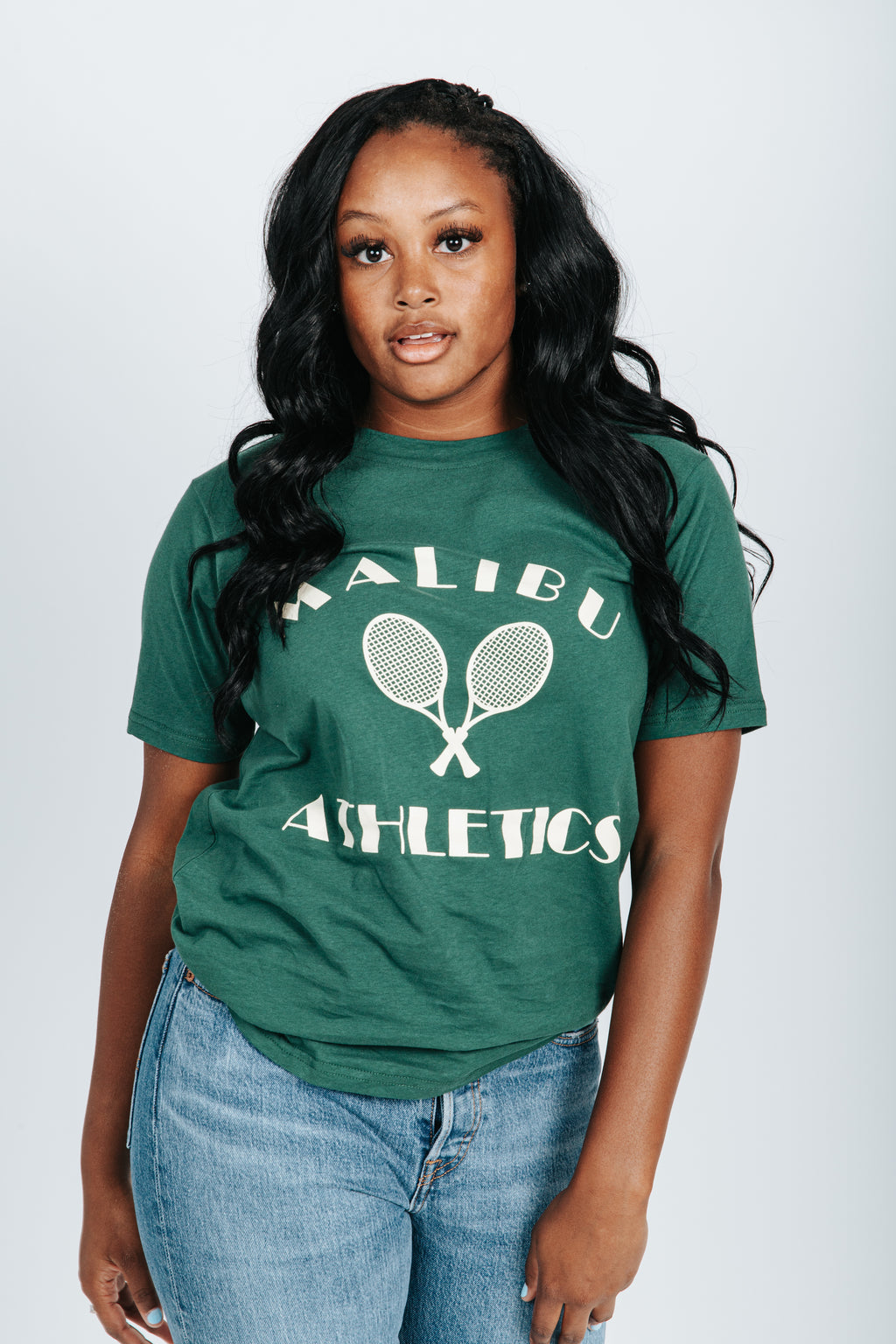 The Malibu Athletics Tee in Green