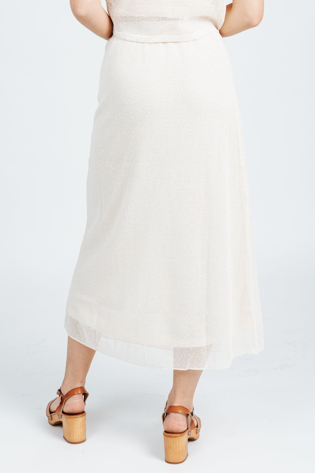 The Banks Knit Skirt in Natural