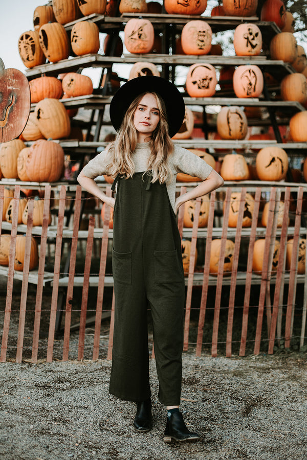 The Ottawa Pocket Romper in Olive