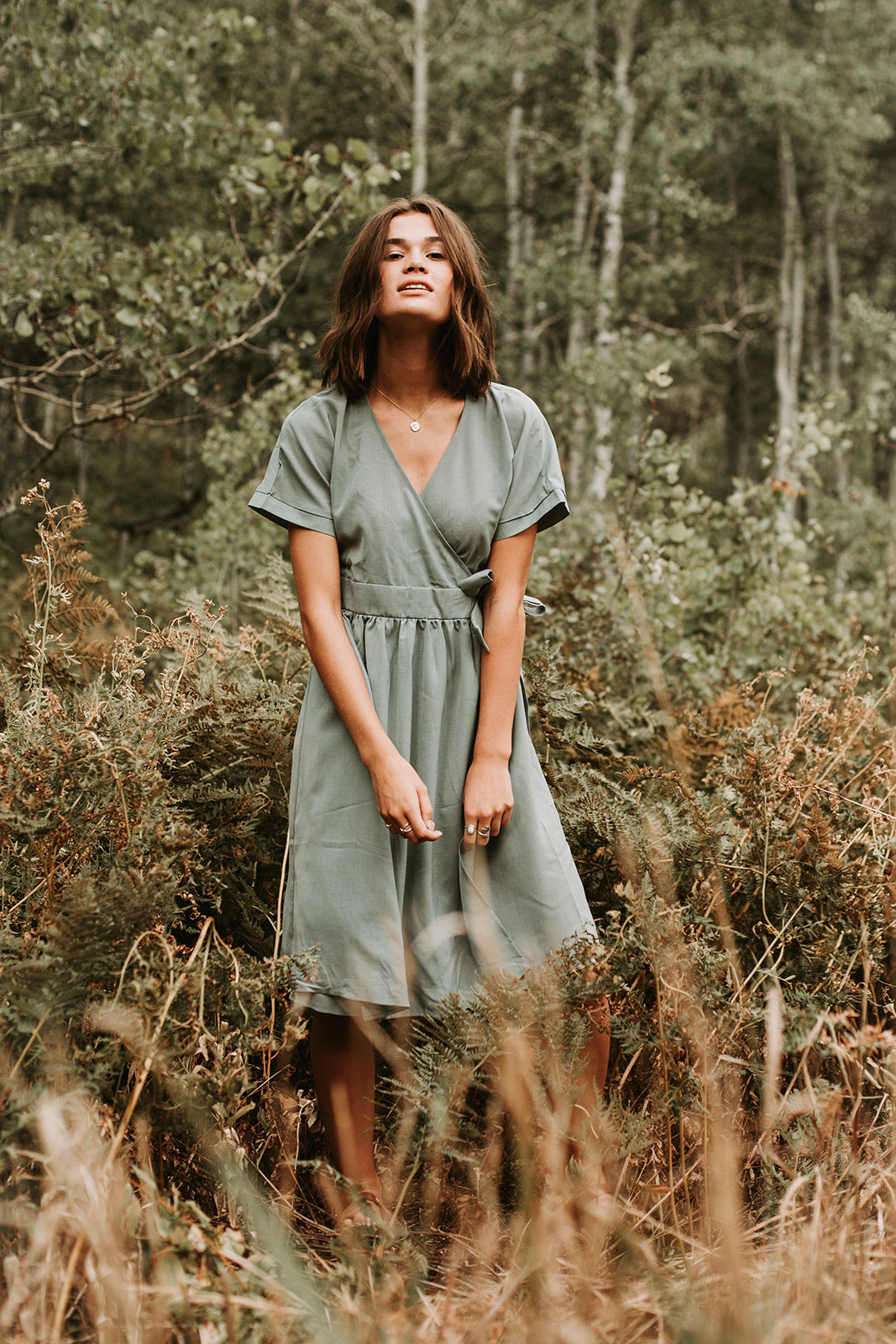 The Guernsey Wrap Dress in Blue