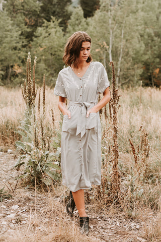 The Fallon Striped Jumpsuit in Rust