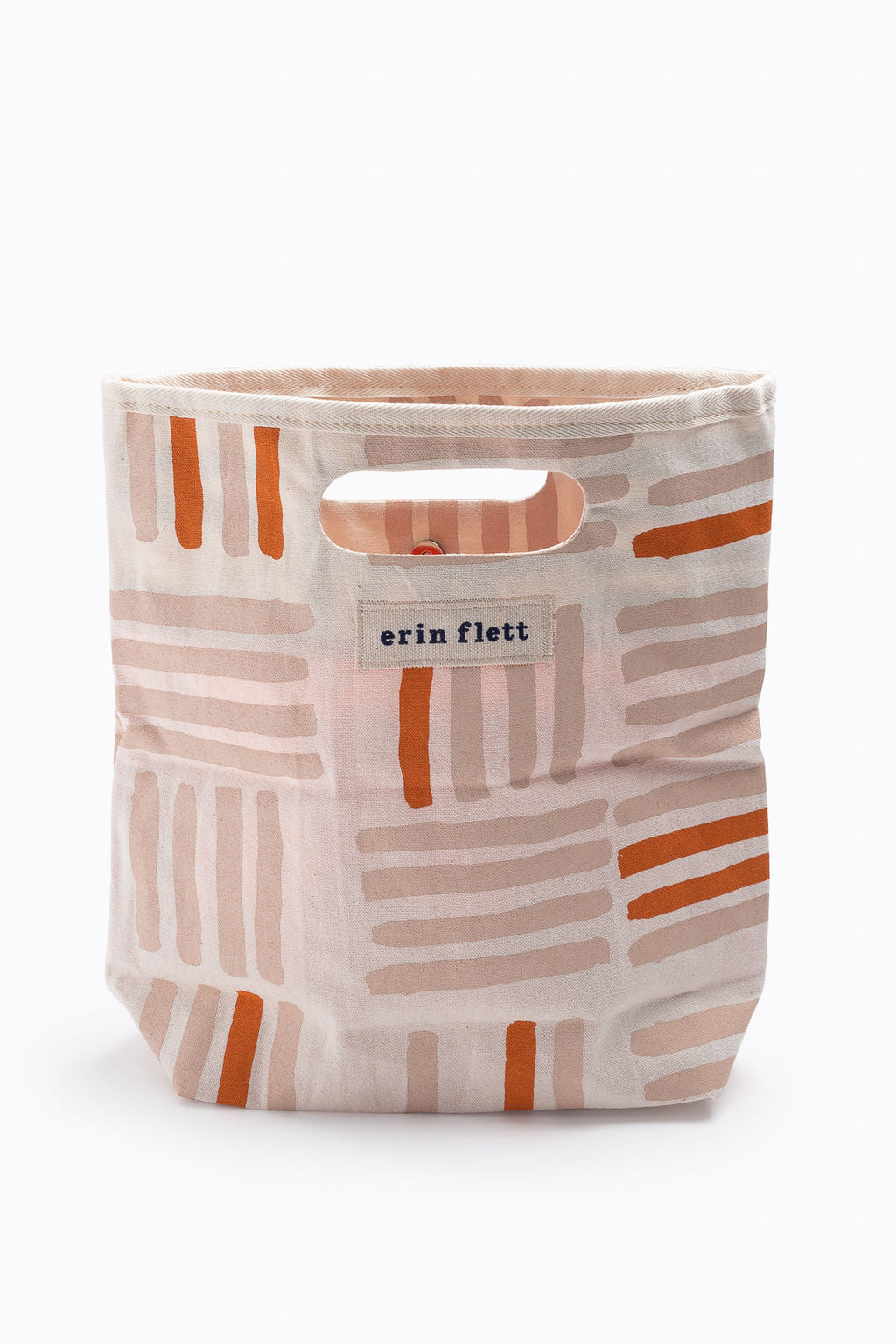Dusty Pink Grid Lunch Bag