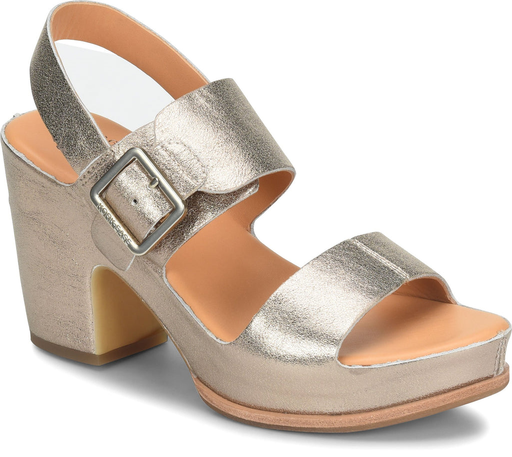 Kork-Ease: San Carlos Sandal in Metallic Gold