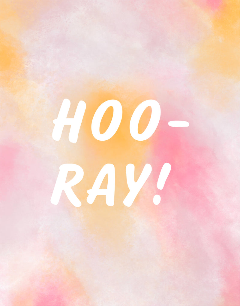 FREE DOWNLOAD: Hooray Print