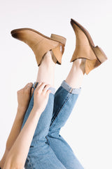 Crevo Footwear: Britain Bootie in Tan