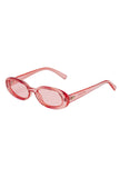 Le Specs 90s inspired oval frame sunglasses
