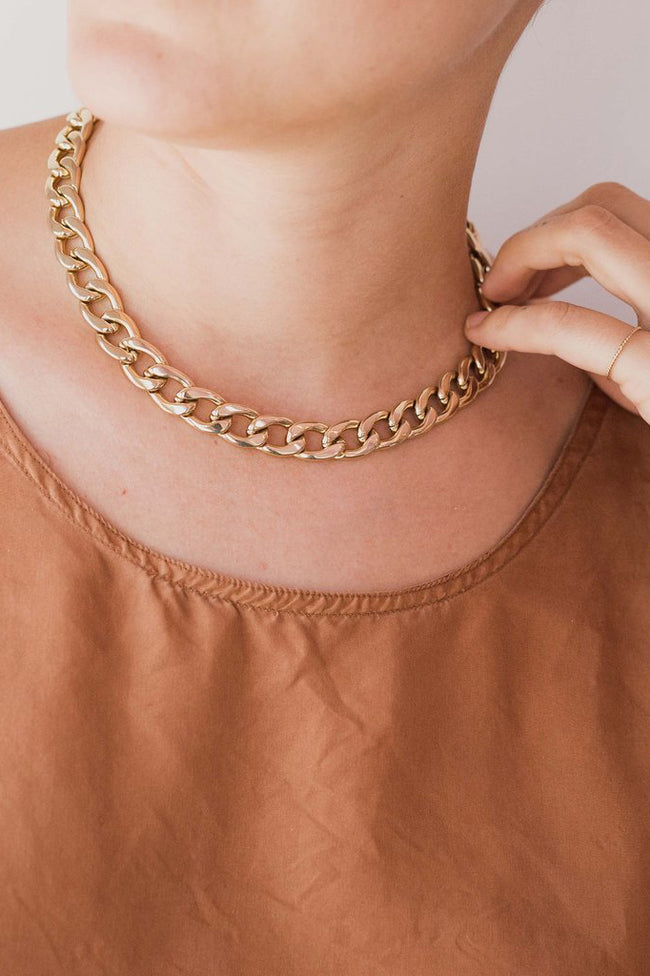 One Six Five Chunky Gold Chain Necklace