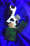 Tsubota Hard Edge Zippo style lighter in cow print