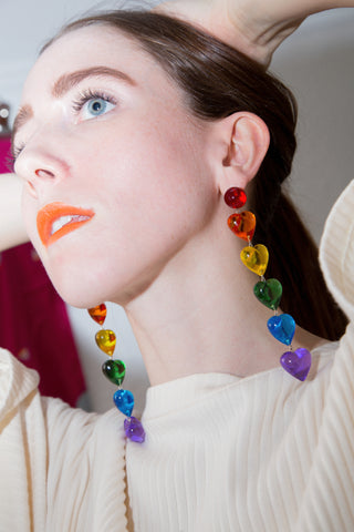 Tuza Love is Love Rainbow Drop Earrings for your Valentine
