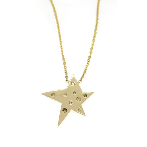 Broken Star 9 Diamond Necklace