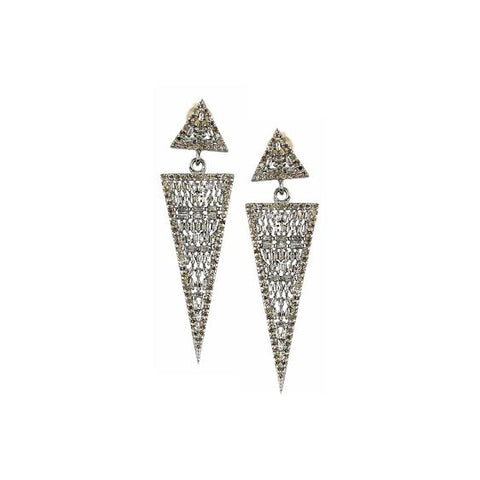 Baguette Triangle Earrings