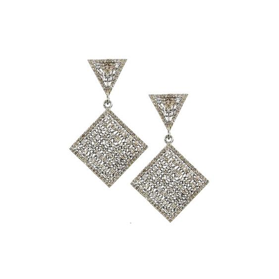 Baguette Square Earrings