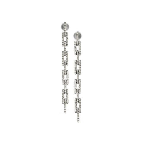 Diamond Link Chain Earring